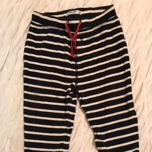 Black and white striped baby pants
